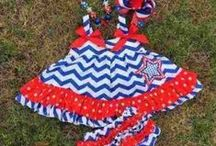 4th Of July Outfits / Show off your Red White and Blue this year with these patriotic outfits. Starting in sizes 0-6 up to size 8.