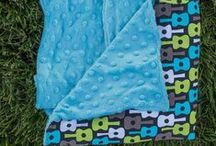 Minky Blankets / Many blanket designs with minky fabric on the back.