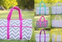 Chevron Diaper Bags / Chevron diaper bags in many colors