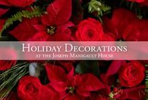 Historic Holiday Decorations / Each year, the Garden Club of Charleston decorates the Charleston Museum's Joseph Manigault House, using only plant materials that would have been available in the Lowcountry during the 19th century.  We hope this inspires creative arrangements at your own house!  http://www.charlestonmuseum.org/joseph-manigault-house / by Charleston Museum