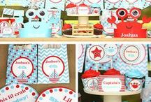 Nautical Birthday Party Ideas / Ideas for your beach or nautical themed party.