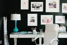 """Organised Creative Chaos - my Home Office Studio / """"If you want to make good use of your time, you've got to know what's most important and then give it all you've got."""" ~Lee Lacocca / by Tara Sutherland"""