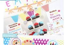Art Party Ideas / Creative ideas for your art party or artist birthday party!