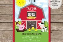 Birthday Party Invitations / Printable Birthday Party Invitations - you personalize the text yourself at home using Adobe Reader.