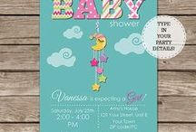 Baby Shower Invitations / Printable Invitations for a baby shower - you personalize at home using Adobe Reader.