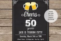 Adult Birthday Party Invitations / Printable Birthday Party Invitations - you personalize at home using Adobe Reader.