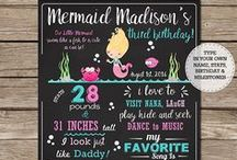 Mermaid Party Ideas / Ideas for your mermaid themed party.