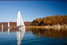 Podkarpackie: Jezioro Solińskie / Solina Lake / Raj dla żeglarzy u podnóża Bieszczadów / A sailors' paradise at the foot of the Bieszczady Mountains