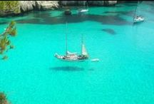 Menorca / Menorca is one of the Balearic Islands located in the Mediterranean Sea belonging to Spain. Its name derives from its size, contrasting it with nearby Majorca.