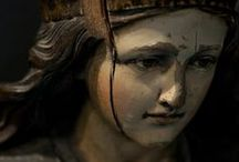 Portraits / Wood, stone, tempera, oil painting: portraits from Mercanteinfiera.