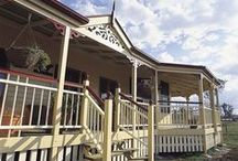 Diamantina Traditional / For those looking for a Queenslander with more individual rooflines the Diamantina may suit. The large bay windows at the front of the home provide symmetrical octagonal roof structures. The wide verandahs sweeps around these bays.