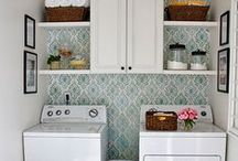 small spaced laundry/pantry