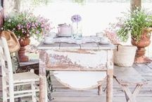 Summer Decor & Garden Ideas / Vintage, Rustic, Shabby Chic, Country, DIY, Garden Ideas, Flowers, Planters