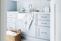 Laundry Rooms That Make Laundry Easier To Love | Mud Rooms That Are A Shame To Get Muddy / Laundry. A necessary evil. But that doesn't mean our laundry room has to be a bummer, too. Laundry room decor, and laundry room inspiration found here, to make that chore a little more tolerable.  Mud Rooms may be the most important room in a house. Especially one with kids! We've got some mad mud room design and inspiration pinned here!