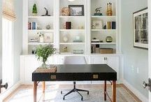 Outstanding Offices | Home Office Ideas & Workspace Design Inspiration / Home Offices, Dens, and Libraries that would make me WANT to work!