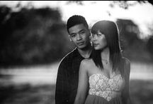Nicole and Wing / I love these engagement photos from Cornwall Park Auckland
