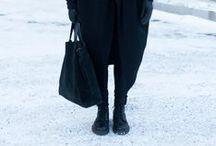 all black / all black outfits, CDG, Yohji Yamamoto insp