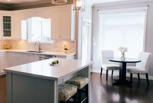 A touch of class Kitchen and fireplace / Kitchen renovation, fireplace renovation, house refresh, finish basement.