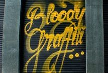 Great Graffiti / Outside or inside, graffiti can inspire......sentiments or ideas for a colour scheme or even artwork for the walls.