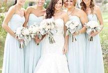 Bridesmaids / Bridesmaid dresses, hair and makeup ideas.