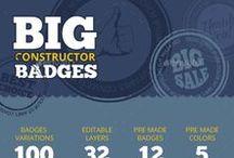 Badges, labels, sticker