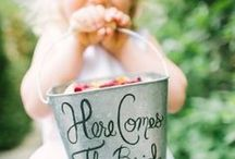 Flower Girls / From confetti-sprinkling to dress inspiration, here's some sweet ideas for the flower girls at your wedding.