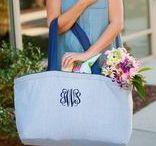 Monogrammed Tote Bags / Monogrammed Tote Bags, Personalized Beach Bags, Utility Totes, Organizing Bags and more!