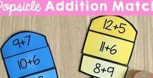 Math at Home / Here's a wide variety of math activities for days at home! Whether it's a snow day, a rainy Sunday, or summer vacation, math can be incorporated into everyday!