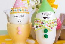 Basteln für Ostern und Eier bemalen / Viele schöne DIY Projekte zum Basteln für Ostern mit vielen Ideen zum Eier bemalen -  für große und kleine Menschen!