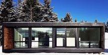 Maison Container / Découvrez de nombreuses idées et astuces pour construire une maison moderne dans un container d'expédition.