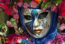 Let's party Masks  / Mardi Gras, Carnival & Art featuring masks. / by Gini Paton