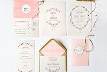 Stationery / Diseño gráfico bodas - Invitaciones, save the date, logos, minutas...