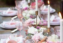 Mesas Deco / Centros de mesa, detalles decorativos, rincones o buffet, velas para cenas bajo la luz de la luna...