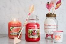 Love is in the Air: Yankee Candle Valentines / Engage your senses and heighten the romantic atmosphere with our two new fragrances - Red Raspberry and Pink Grapefruit, accessories and gift sets from the World's favourite candle.