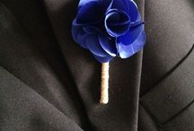 Flor de lapela para noivo, pais e padrinhos estilo rústico, decorada com cristais. As flores confeccionamos na cor de sua preferência! / Flor para lapela noivo, pais, padrinhos e pajem