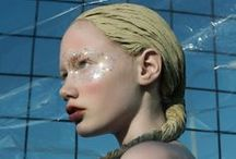 Glitter, Glimmer, Shine / Creative make-up with the use of various glitters, shiny powders and shimmering particles.