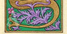 Calligraphical drawings / Ornamental letters, frames, banners..