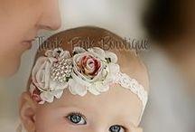 Niñas~Diademas,lazos,tocados / Bonitas ideas para las cabecitas de las niñas