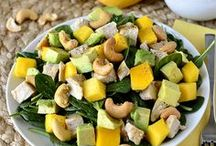 """Real Food/Paleo Salads / These are fun twists on traditional salads. You won't find any grains or gluten here! Note, they are not all necessarily PFC balanced, so please consider this when they are making their way into your meals and snacks :) For salads that include some grains and aren't necessarily gluten-free, check out my board """"Recipes with SOME grain..."""""""