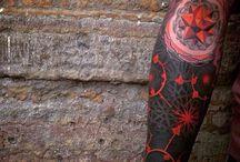 Black work/dot work tattoos