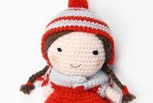 Crochet Doll Anna - amigurumi / tutti gli schemi per realizzare una bambola a uncinetto con vestiti e accessori.  Amigurumi free pattern.