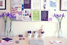HOME - Bureau / Office / Atelier / J'aime avoir mon petit endroit cocooning pour travailler !