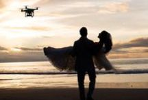 Weddings + Drones / Drones are a unique but fast-growing segment of the tech product world, that has found a niche in wedding photography and videography.