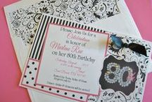 80th Birthday Party / My Mother loves to wear Black & White with just enough color to mix it up. Pink, yellow, Aqua etc. along with a little bling. She always looks beautiful. So, I thought I would honor her by decorating her 80th Birthday party in her favorite colors. / by Vickie List