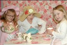 Little Girls Tea Party / This is my first attempt at decorating a party. My granddaughter was turning 5 and I thought that would be a good place to start (pick a theme and go from there). Boy have I learned a lot. Hope you enjoy my ideas. / by Vickie List