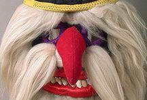 Europe est - masques / Masques populaires d'Europe de l'est et balkanique