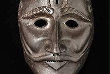 Masques sociaux, masques de torture, masques d'armures (hors asie)