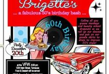50's Diner Party - Briggie's / Calling all you grease monkeys and beauty school dropouts as we roll up our sleeves and put on our poodle skirts to dress to impress 50's style! All made with my Silhouette Cameo Die Cutter.