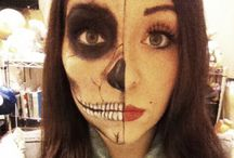 Halloween crazy makeup / Ideas for crazy makeup to a young crazy lady in annoying moments ;)