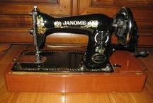 Sewing: Vintage Machines / I just love the look of old sewing machines. Art!  / by D&I Vega